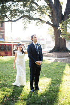 Downtown Raleigh Wedding Day-of Wedding Coordination First Look