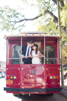 Downtown Raleigh Wedding Day-of Wedding Coordination Raleigh Trolley