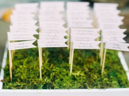 Graylyn Estate Wedding Escort Card Alternatives