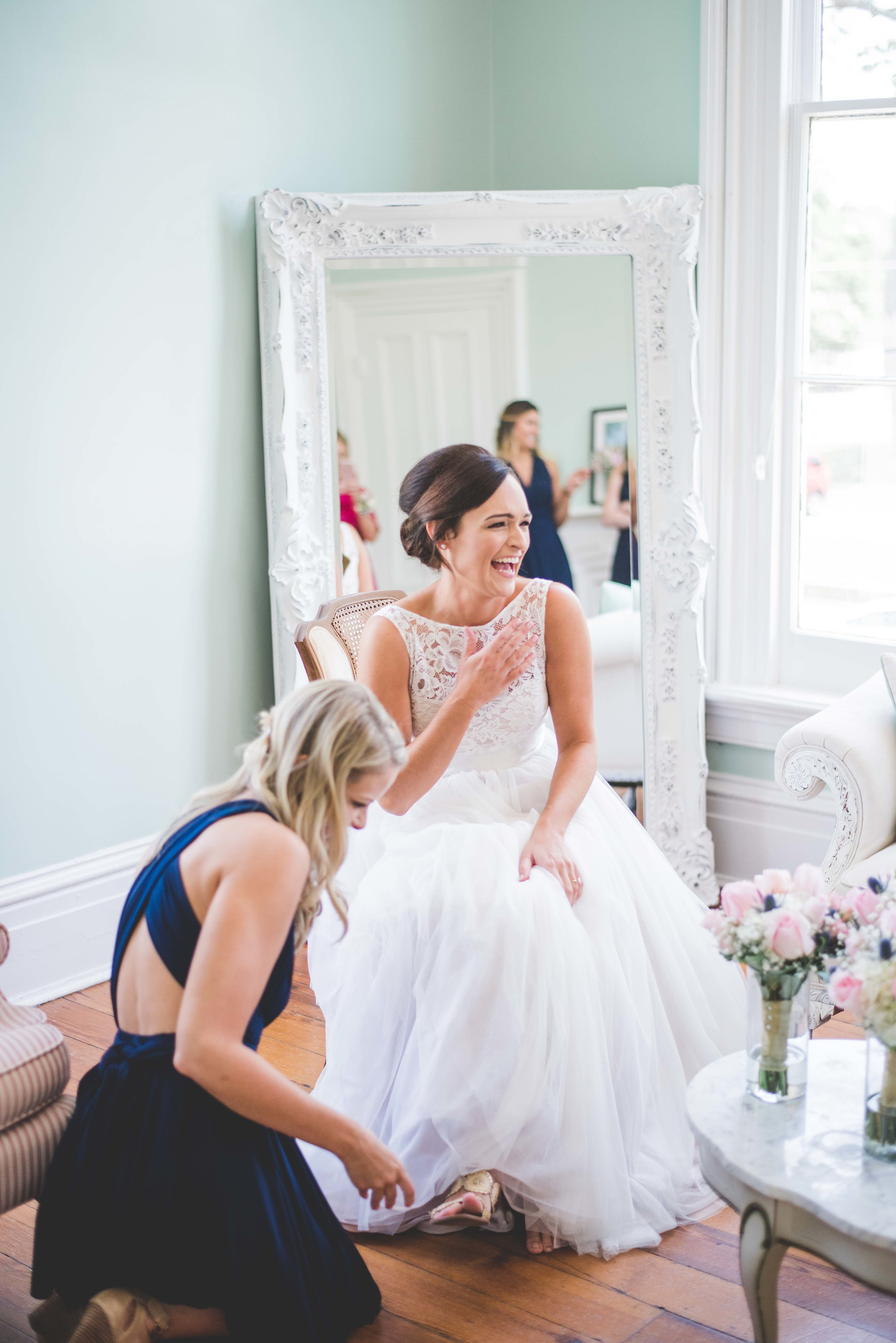 New day. bride getting ready exact