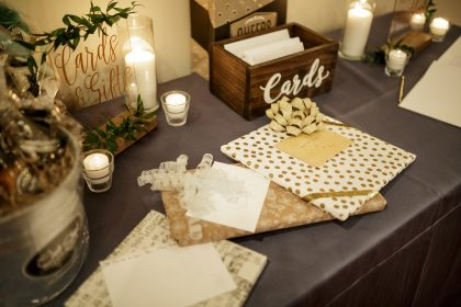 wedding gift and card table