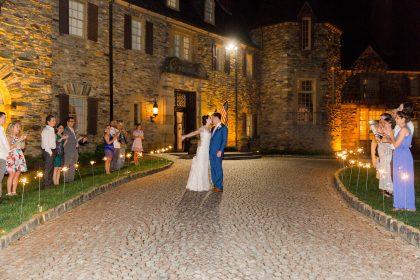 Graylyn Estate Wedding Grand Sparkler Exit