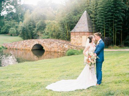 Graylyn Estate Wedding Bride and Groom