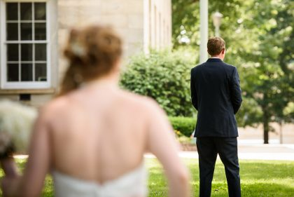 Downtown Raleigh Wedding First Look