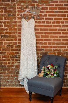 Wedding Dress and bouquet