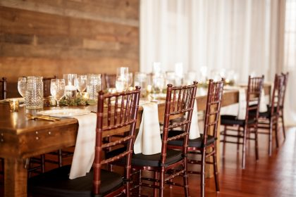 Farm Table wedding reception at The Cloth Mill