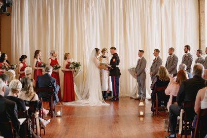 ceremony photo at The Cloth Mill