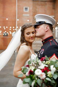 marine and his bride