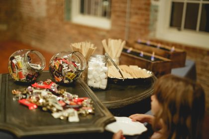 Cook Shack S'Mores Bar at Wedding Reception