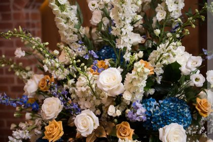 Winter Wedding Ceremony Flowers