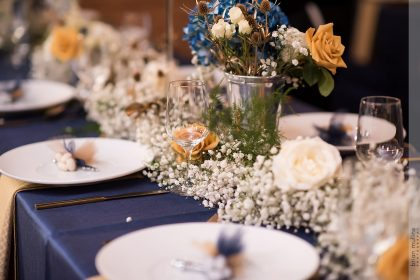 Baby's Breath Wedding Reception Table