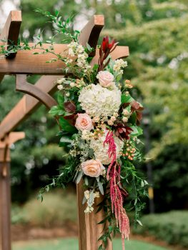 The English Garden Raleigh Ceremony Flowers