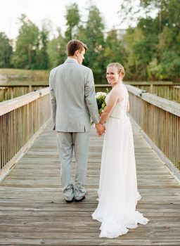 Bride and Groom Photo Lake Raleigh