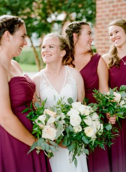 Bride and Flowers Day of Wedding Coordination