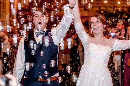 wedding grand bubble exit
