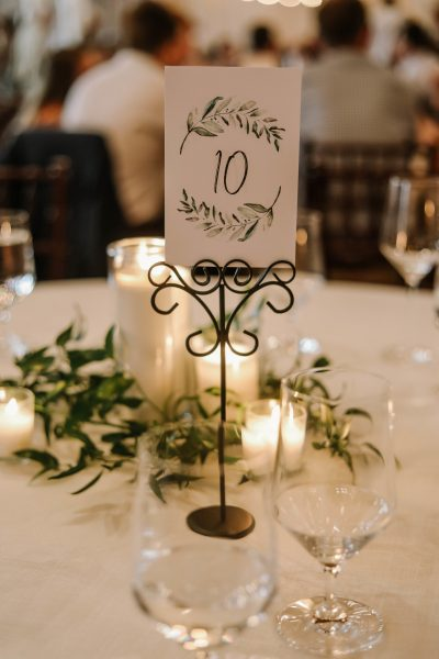 white and green wedding reception centerpieces