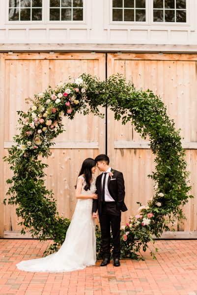 Ceremony Floral Ring Backdrop