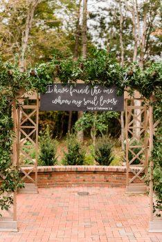 Wedding Ceremony Arbor and Love Quote