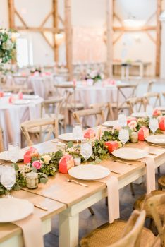 Cottage Luxe tables and chairs barn of chapel hill