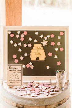 Wedding Guest Book Alternative Beehive Chalkboard