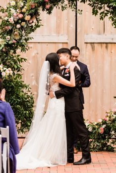 You may Kiss the Bride wedding photo