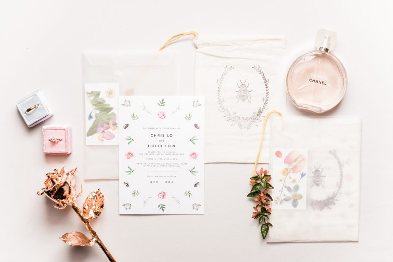 Wedding Invitation and Perfume