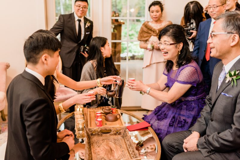 Traditional Chinese Wedding Tea Ceremony Mother of the Bride Father of the Bride