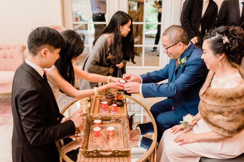 Traditional Chinese Wedding Tea Ceremony Father of the Groom Mother of the Groom