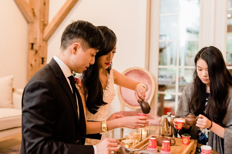 Bride and Groom Traditional Chinese Wedding Tea Ceremony