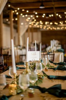 Wedding Centerpieces with tapered candles