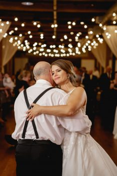 Father Daughter Dance under market lights