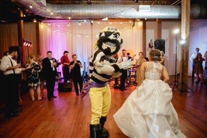 ECU's Pee Dee dancing with bride