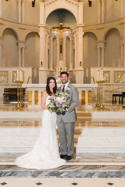 Newlyweds Holy Name of Jesus Cathedral Raleigh NC