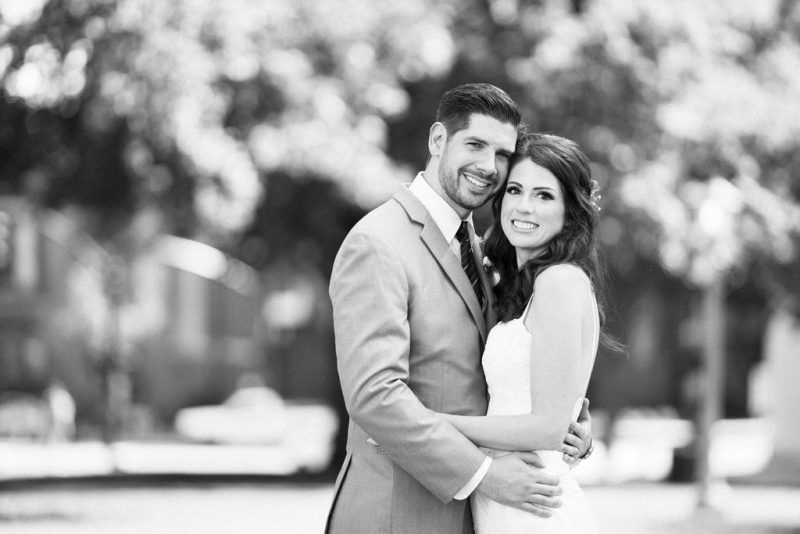 Black and White Wedding Portrait by Joe Payne