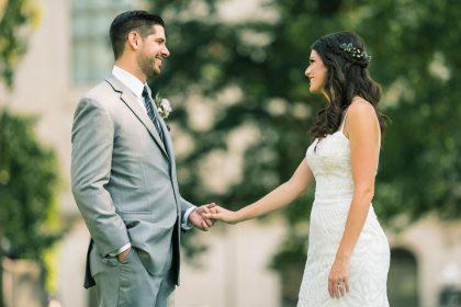 Outdoor Wedding Couple Portrait