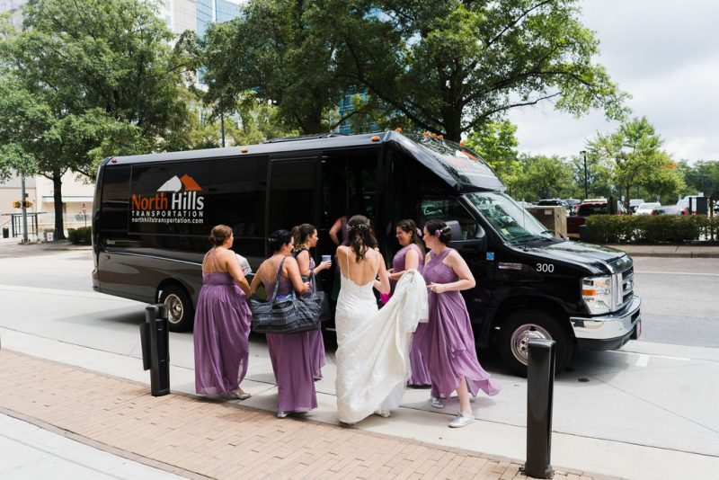 North Hills Transportation Raleigh Wedding