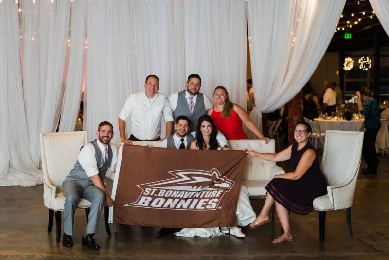 St. Bonnaventure Alumni at Wedding Reception