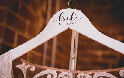 Wedding Dress personalized Hanger