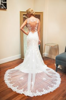 Gorgeous Back of Wedding Dress with lace train