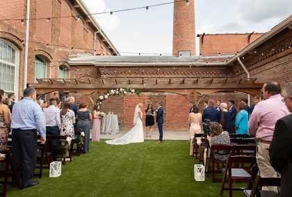 Wedding ceremony at The Cloth Mill