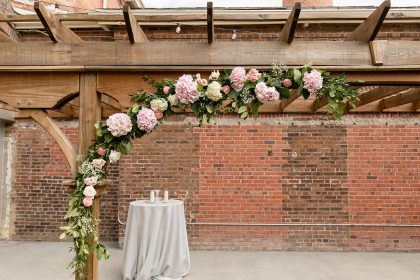 Flower Wedding Arch by Tre Bella Florals