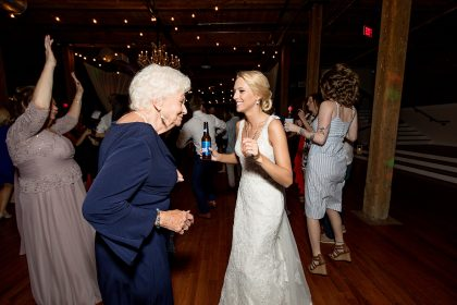 Bride and Grandma dancing at Reception