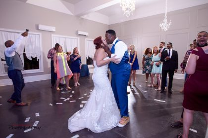 Dancing at wedding reception Will J. Entertainment NC