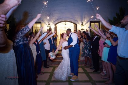 Sparkler Exit at French Country Wedding Venue NC