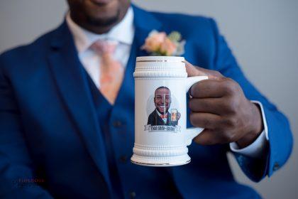 personalized groom beer stein