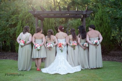 cute bridal party photos in sage green dresses