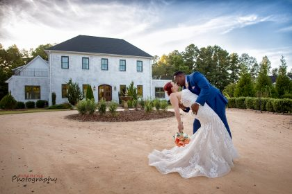 newlyweds kissing photo The Bradford NC