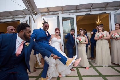 fun shoe and sunglasses for the newlyweds