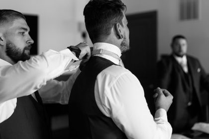 Groom photos before wedding ceremony