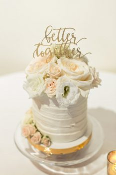 la dolce wedding cake better together cake topper